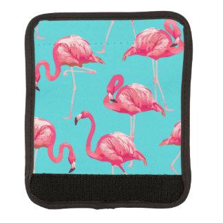 Protège Poignée Pour Bagage Oiseaux roses de flamant sur l'arrière - plan de