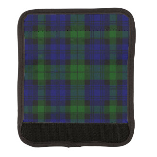 Protège Poignée Pour Bagage Plaid noir de vert bleu de tartan de clan de