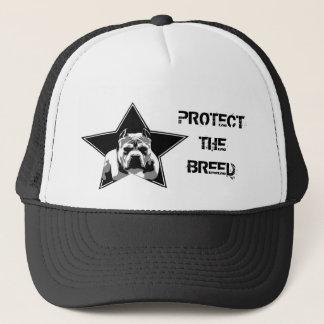Protégez le casquette de pitbull de race -