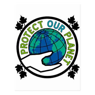 Protégez notre planète carte postale
