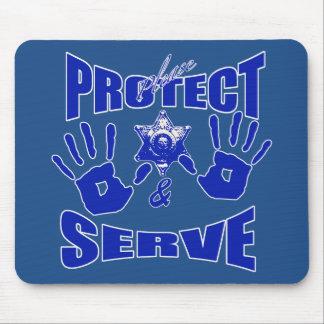 Protégez svp et le service 2 tapis de souris