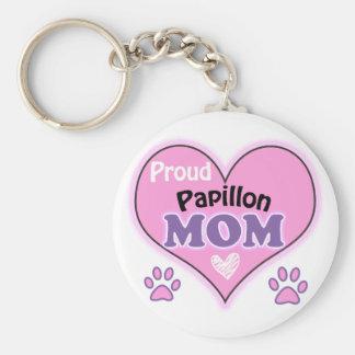 Proud Papillon Mom Porte-clés