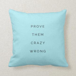 Prouvez-les bleu inspiré faux de coussin de