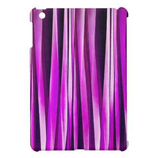 Prune pourpre et et lignes rayées motif de étuis iPad mini