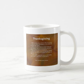 Psaume 100 de thanksgiving mug