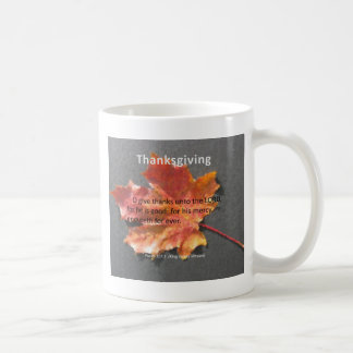 Psaume 107-1 de thanksgiving mug