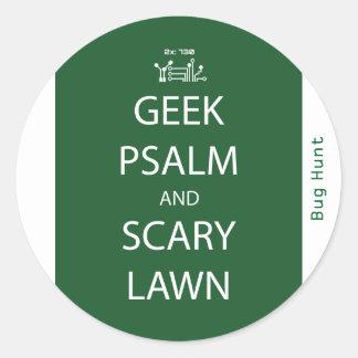 Psaume de geek et autocollant effrayant de pelouse