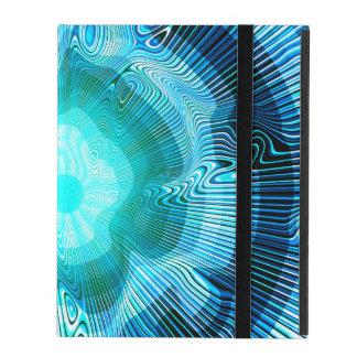 Psychédélique en spirale bleu protection iPad