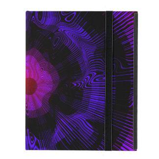 Psychédélique en spirale pourpre coque iPad