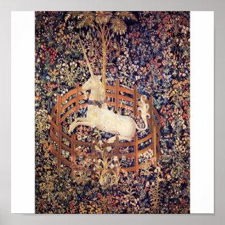 Psychedelisch Einhorn, licorne de Psychédélique Poster