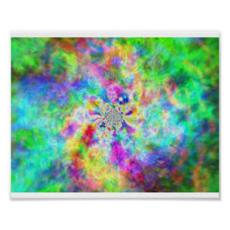 Psychédélisme in kleuren poster