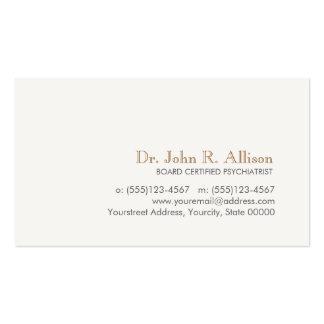 Psychiatre professionnel simple et élégant carte de visite