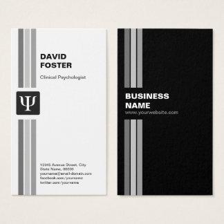 Psychologue clinicien - symbole de livre par pouce cartes de visite