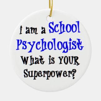 psychologue d'école ornement rond en céramique