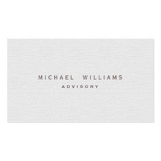 Psychologue - Professionnel élégant blanc rugueux Carte De Visite Standard