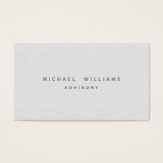 Psychologue - Professionnel élégant blanc rugueux Cartes De Visite