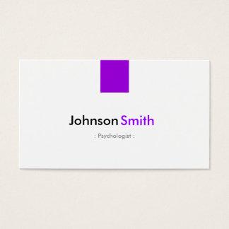 Psychologue - violette pourpre simple cartes de visite