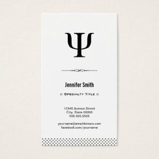 Psycholoog - Schone en Elegante Zwart-wit Visitekaartjes