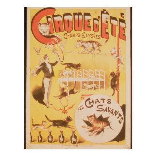 Publicité par affichage le d'Ete de Cirque dans Carte Postale