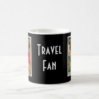 Publicité vintage de voyage d'Antibes France Tasses À Café