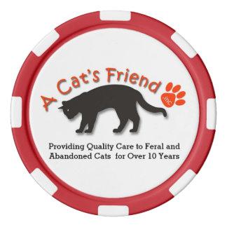 Puces informationnelles de l'ami d'un chat jetons de poker