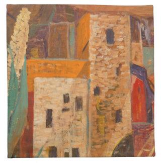 Pueblos d'habitants de falaise serviettes en tissus