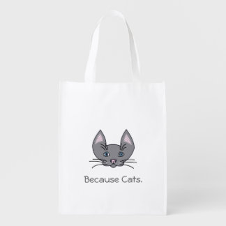 Puisque sac réutilisable de chats