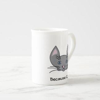 Puisque tasse de porcelaine tendre de chats