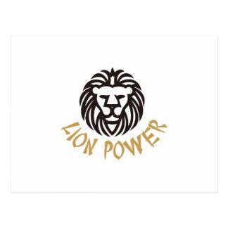 Puissance de lion cartes postales