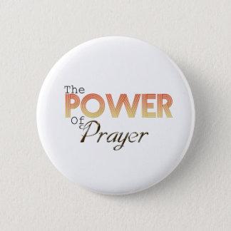 Puissance de prière badge rond 5 cm