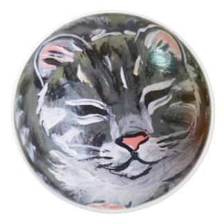 Pul gris de bouton de porte de Cabinet de tiroir