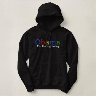 Pull À Capuche Brodé Chemise brodée par Barack Obama chanceuse