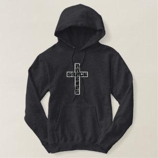 Pull À Capuche Brodé Croix extraordinaire de grâce