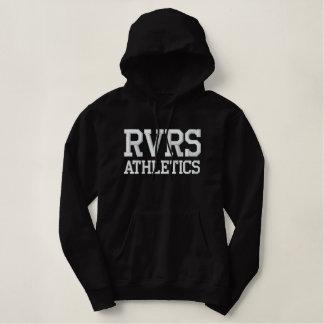 Pull À Capuche Brodé Dames d'athlétisme de RVRS Blac/sweat - shirt à