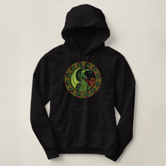 Pull À Capuche Brodé Dragon celtique