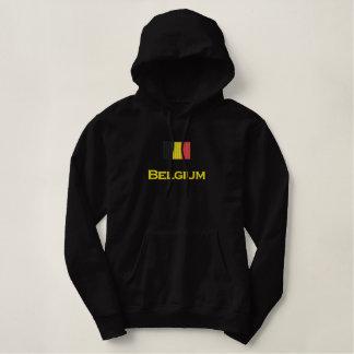 Pull À Capuche Brodé Drapeau de la Belgique