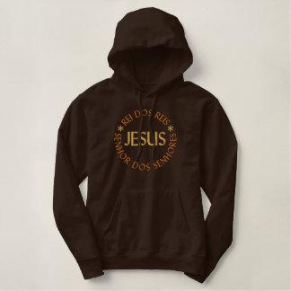Pull À Capuche Brodé Jésus est le Roi des Rois et le M. te