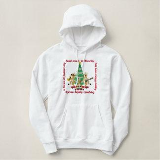 Pull À Capuche Brodé Rockin autour de l'arbre de Noël