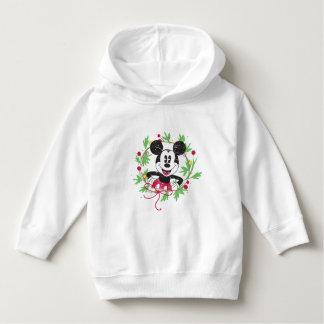 Pull À Capuche Guirlande vintage de Noël de Mickey Mouse |