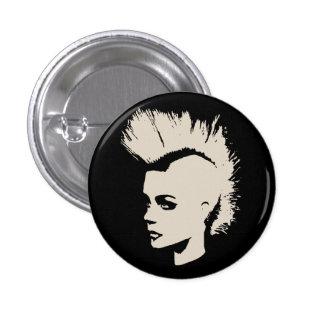 Punk Girl - impression unichrome - de crème white Badge Rond 2,50 Cm