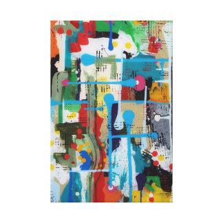 Punt van het abstracte ontwerp van de Oorsprong Canvas Afdruk