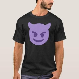 Purple Devil Emoji T Shirt