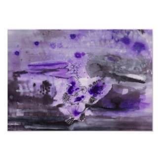 Purple ink illustration - Turkey Poster