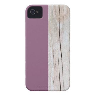 Purple + Wood Coques iPhone 4