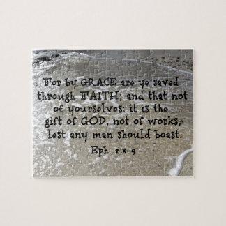 Puzzle 2:8 d'Ephesians - 9 pour par la grâce sont le YE