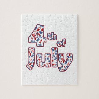 Puzzle 4 juillet Jour de la Déclaration d'Indépendance