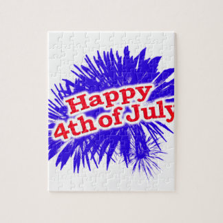 Puzzle 4 juillet thème graphique heureux