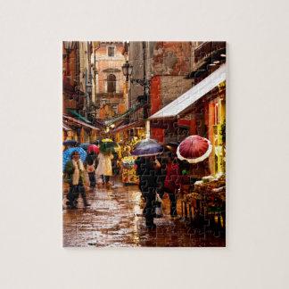Puzzle Achat sous la pluie