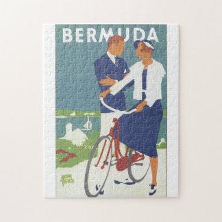 Puzzle Affiche vintage de voyage des Bermudes