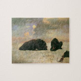 Puzzle Animaux vintages, ours gris par Albert Bierstadt